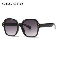 Oec cpo винтажные Квадратные Солнцезащитные очки в стиле панк