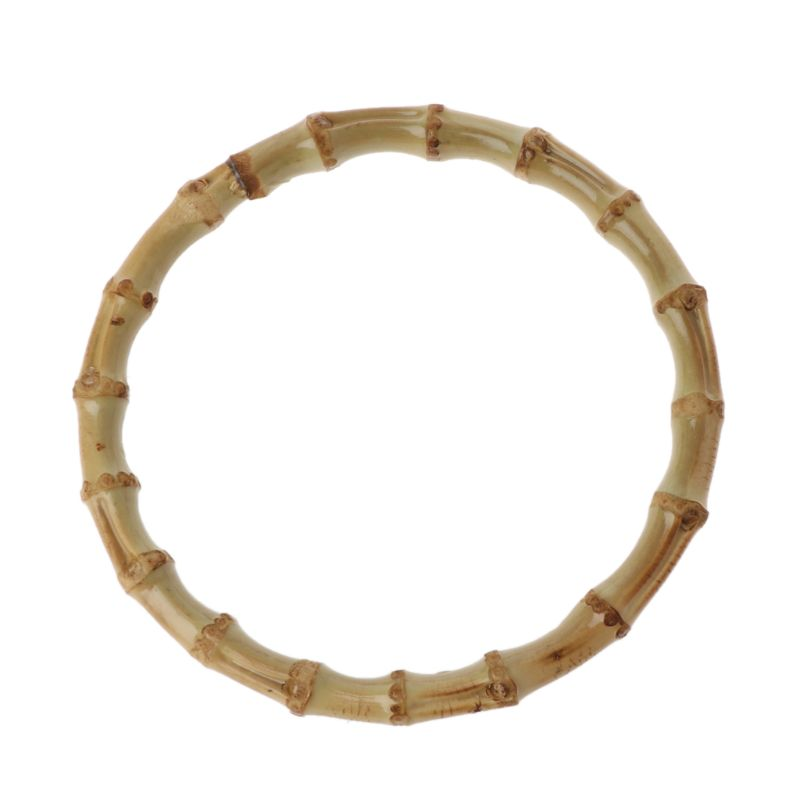 1 X Round Bamboo Bag Handle For Handcrafted Handbag DIY Bags Accessories Good Quality 13x13cm A69C