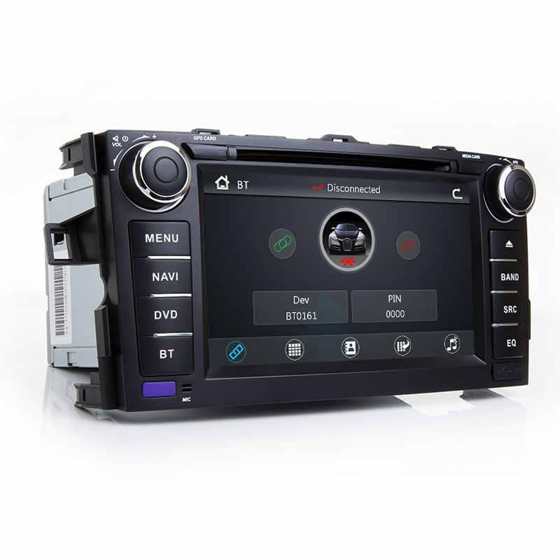 Radio samochodowe 2 Din samochód ODTWARZACZ DVD dla Toyota AURIS Toyota Corolla Altis 2012 2013 multimedialny CD GPS radia samochodowego główny panel nawigacji