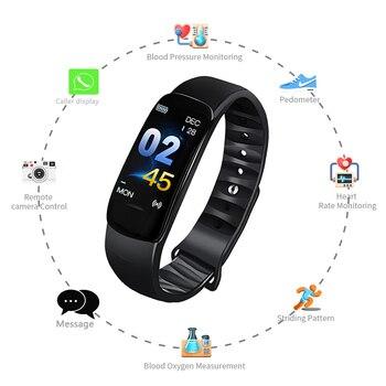C1 Smart Bracelet Watch Blood Pressure Measurement Heart Rate Monitor Cardiaco Fitness Tracker Smart Wristband фото