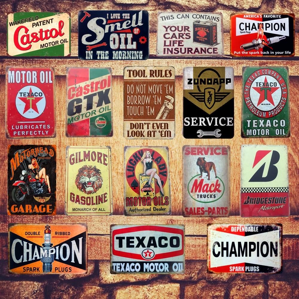 metal sign plaque vintage retro style Dependable service garage tin 20 x 15cm