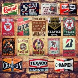 Plaque d'huile moteur Vintage métal étain signes maison Bar Pub Garage Station-service plaques de fer décoratives Stickers muraux affiche d'art N198