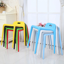 Postmodern Creative Plastic Stool Dining Chairs for Dining Rooms Furniture Living Room Kitchen Bedroom Study Stool Cafe Chairs