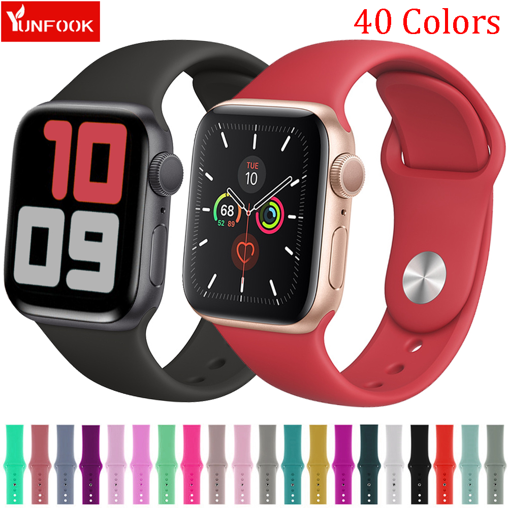 Sport Strap For Apple Watch Band 38mm 40mm IWatch 4 Band 44mm 42mm Accessories Silicone Watchband Bracelet Apple Watch 5 4 3 2 1