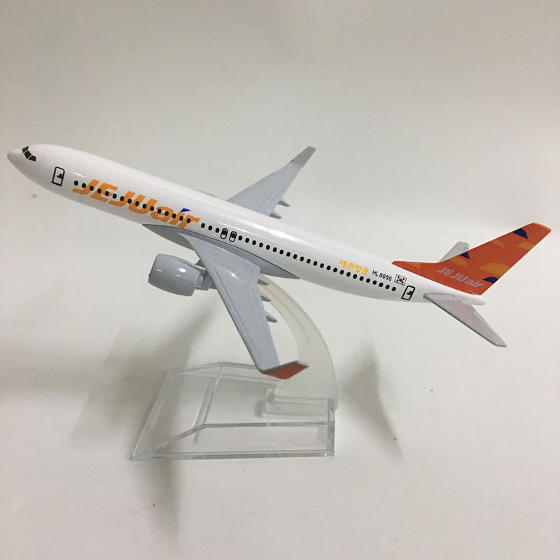 JASON TUTU 16cm Korea JEJUAIR Airlines Boeing 737 Plane Model Airplane Model Aircraft Model Diecast Metal 1:400 Plane Toy Gift