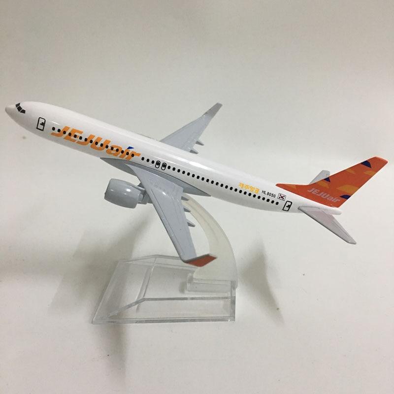 JASON TUTU 16cm Korea JEJUAIR Airlines Boeing 737 Plane Model Airplane Model Aircraft Model Diecast Metal 1:400 Plane Toy Gift