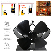 5 Types Stove Fan 4 Blade Fireplace Heat Powered komin Wood Burner Eco Friendly Quiet Home Efficient Distribution
