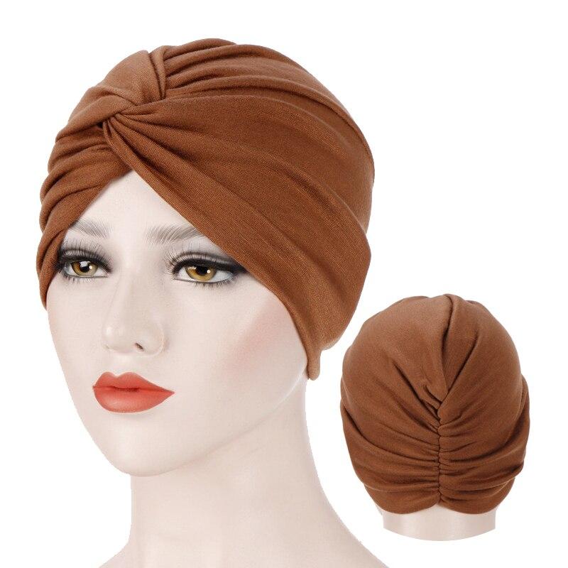 Muslim Jersey Hijab Turban Cap Forehead Cross Turbante Bonnet Islamic Headwear For Women India Wrap Head Inner Hijab Caps