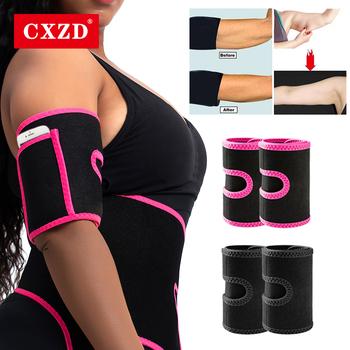 CXZD 2021 nowy 1 para kobiety Arm Shaper odchudzanie trymer Shapers Arm bielizna modelująca rękaw szczuplejsze Arm Pad produkt do utraty wagi tanie i dobre opinie Bezpłatny drut CN (pochodzenie) POLIESTER DO UWYDATNIANIA SYLWETKI STANDARD Sukno Firma WOMEN Zestaw bielizny modelującej