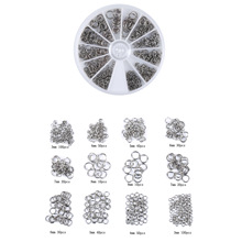 Mix Size Stainless Steel Jump Rings & Split Set DIY Jewelry Making  Findings&Components