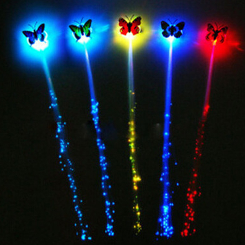 Random Colors Party LED Shining Glow Hair Braids Flash LED Fiber Hairpin Clip Light Up Headband Party Glow Accessories Hot Sale