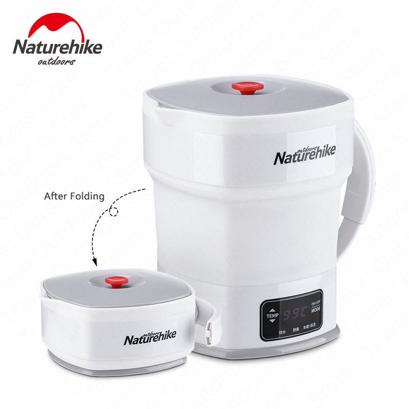 Naturehike Electric Kettle Foldable Insulation Portable Mini Water Kettle Food Grade Silicone Travel Camping image
