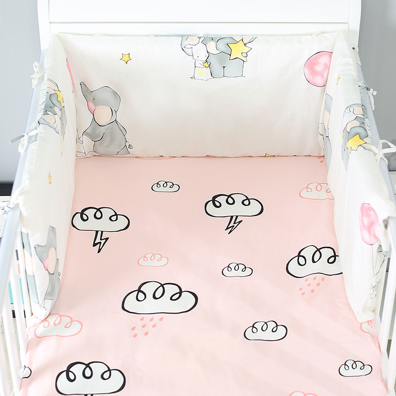 1pcs 180cm Length Cot Protector Cushions Cuna Bebe Newborns Room Decor Thicken Bumper Crib Around Cushion Cot Protector