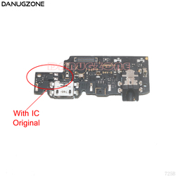 オリジナル USB 充電ドックソケットコネクタ充電ボードフレックスケーブルとオーディオヘッドフォンジャック Xiaomi Redmi 注 5/ 5 プロ