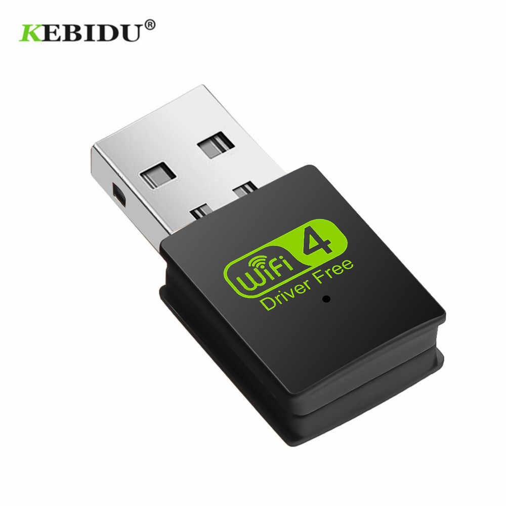 KEBIDU Free Driver Wireless USB Wifi Adapter 300Mbps Wi-fi Adapter Network Card 2.4G Lan USB Ethernet PC Lan Card