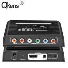 Vídeo componente ypbpr + digital/analógico coaxial áudio para hdmi conversor adaptador para wii ps2 ps3 dvd player para tv hdtv projetor