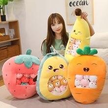 Хит продаж 8 шт Сумка с фруктовыми игрушками мягкая подушка