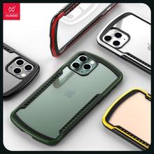 Xundd caso protetor para iphone 11 pro max shookproof transparente pára choques fosco caso com airbag respirável caso de jogo de ventilação