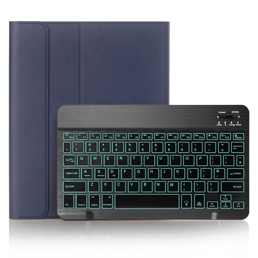 Blue with Black Blue Keyboard Case for iPad Air 4th 4 10 9 2020 A2324 A2072 Cover 7 Colors Backlit