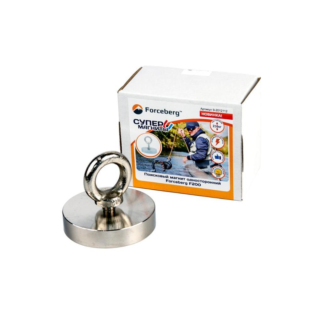 Поисковый магнит односторонний Forceberg F200, сила сц. 230 кг|Магнитные материалы|   | АлиЭкспресс