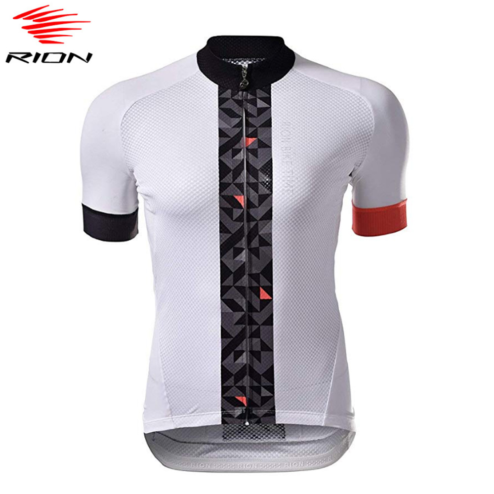 RION Cycling Jersey Women 2020 Spring Short Sleeve White Bike Jersey MTB Bicycle Clothing Road Team Cycling Shirts Ciclismo