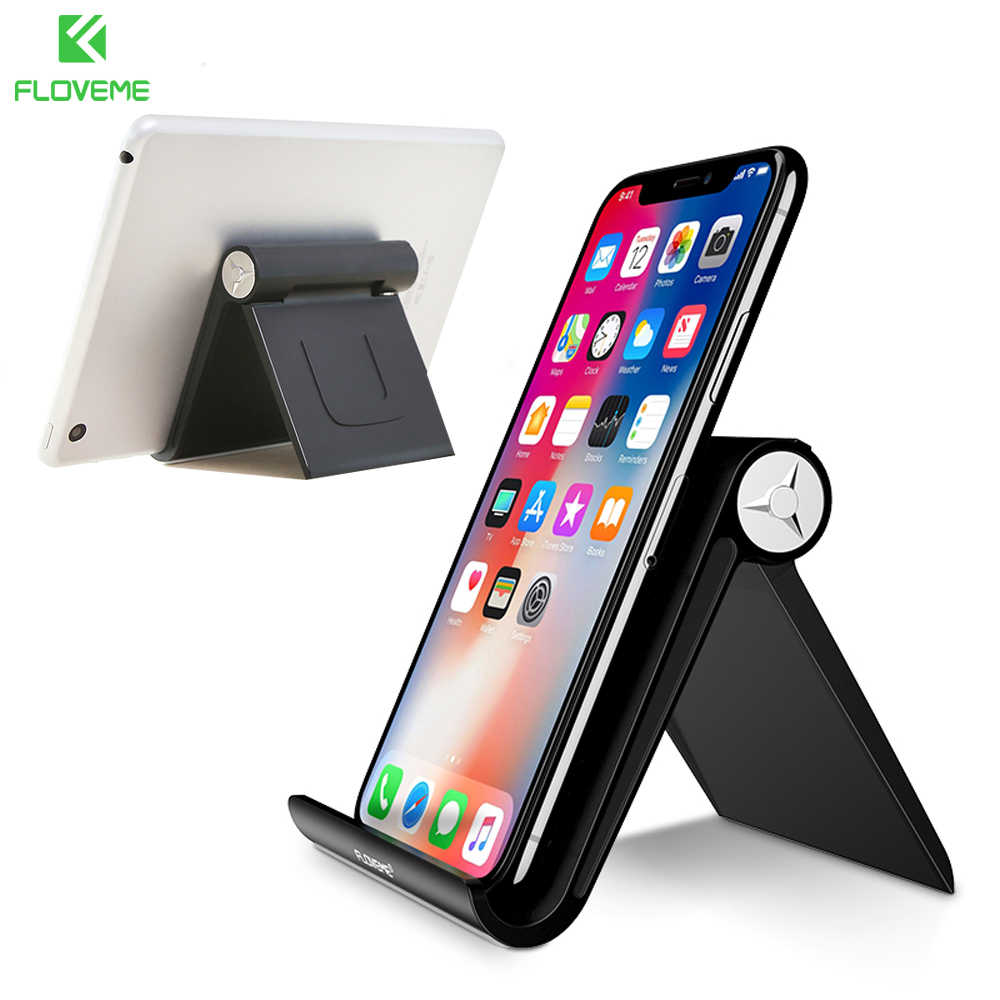 FLOVEME Mobile Phone Holder Stand For iPhone XR 8 7 Foldable Phone Stand For Samsung Galaxy S9 S8 Tablet Stand Desk Phone Holder