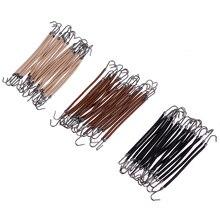 Hot 20Pcs Elastic Clips Ponytail Hooks Headband Hair Claw Hair