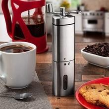 Ручная кофемолка с уникальным тройным угловым корпусом улучшает сцепление во время помола и добавляет чистой нержавеющей стали L
