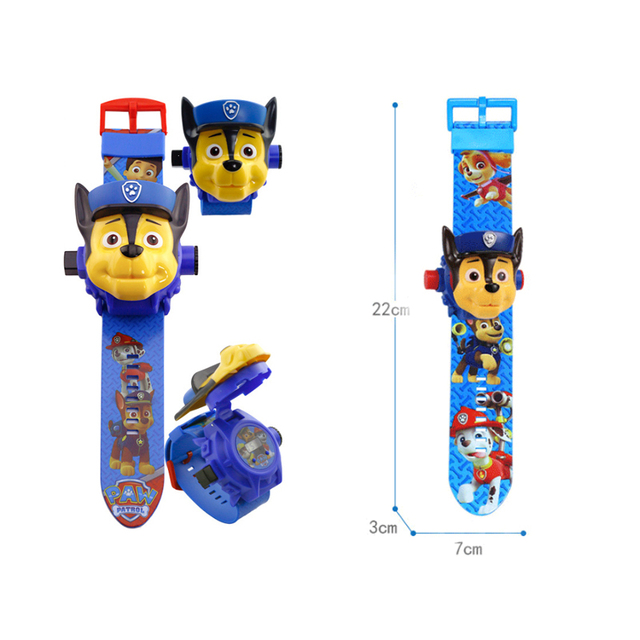 Paw patrol toys set 3D Projection watch Birthday Gift 4