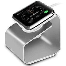 Портативный Зарядное устройство для наручных часов Apple Watch подставка 5 4 3 2 1 44/42 мм 40 38 мм и нержавеющая сталь металлический корпус наручных часов iWatch серии Алюминий крепление беспроводной Зарядное устройство аксессуары для часов