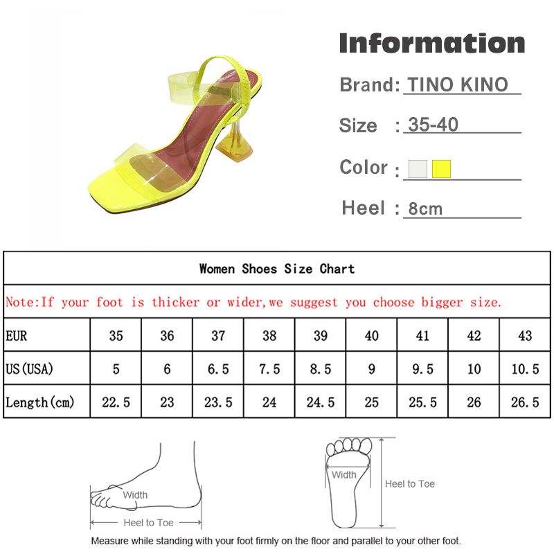 Summer Women Crystal Open Toe Jelly Sandals Ladies Elastic Band Sike High Heels Female Transparent Pumps Fashion Shoes 6