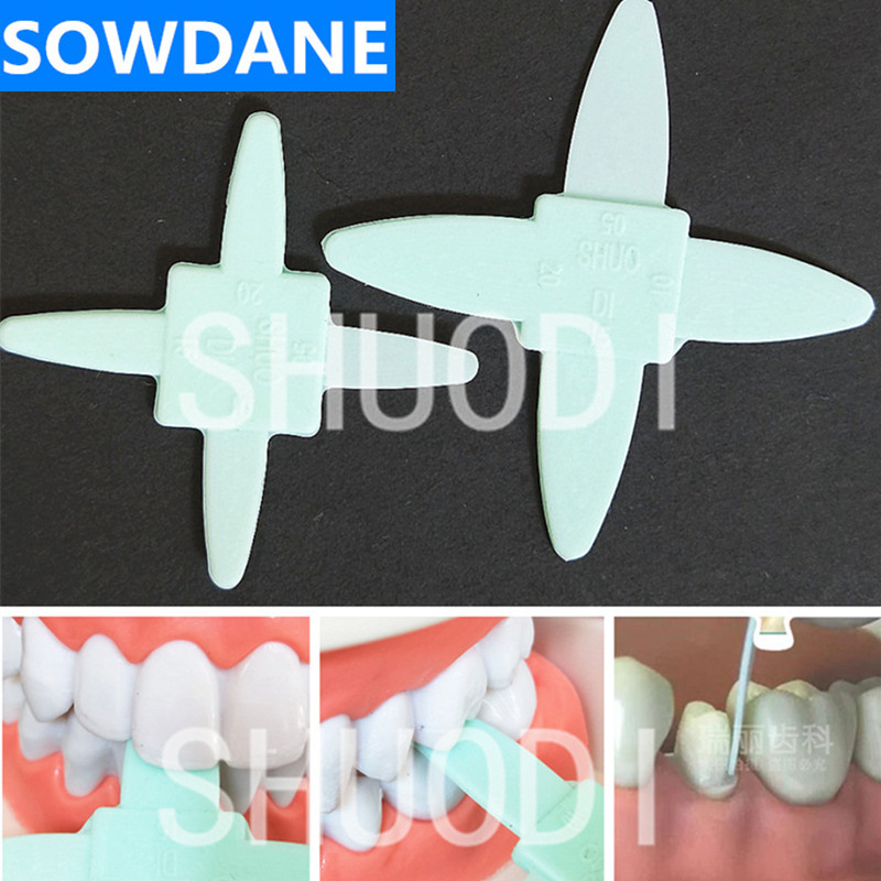 2 Pcs/Set  Dental Rubber Ruler For Measurement Of Tooth Slit Teeth Occlusal Ruber Instrument Tool