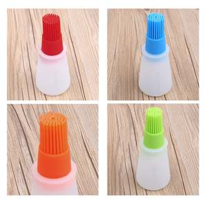 QQLIFE Silicone Oil Bottle Baking Brush Liquid Oil Honey Brushes Barbecue Tool BBQ Basting Pancake Kitchen Accessories