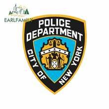 EARLFAMILY 13cm pour NYPD Police voiture camion décalcomanie voiture accessoires autocollants adaptés à JDM SUV RV Occlusion rayure décoration