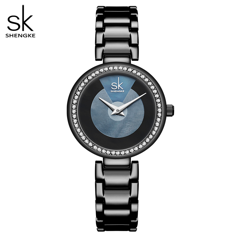Shengke Fashion Quartz Watch Diamond Dial Ladies Watch Classical Women Wristwatch Japan Movement Watch Drop Shipping