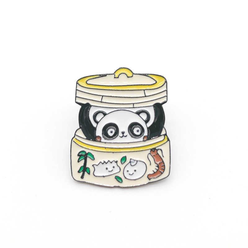 Cartoon Planet salto Lupo Smalto Spilli Animale Sveglio del Gatto ape Spille Panda Uccello Pulsante Distintivi e Simboli Gioelleria raffinata e alla moda Per gli amici bambini