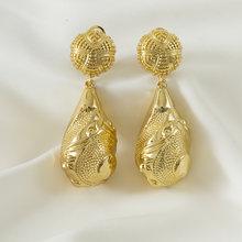 Balançar gota ouro irregular brinco africano senhora jóias acessórios para festa de casamento presente