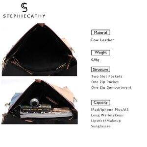 Image 2 - Sac à dos en cuir véritable pour femmes, grand sac à bandoulière à rabat, Style Vintage, Patchwork, sac à dos avec pompon, décontracté