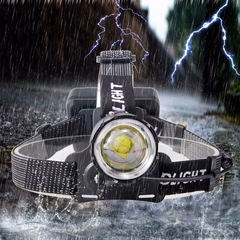 New Arrive  XHP90 32W Powerful Led Headlamp Headlight Zoom Head Lamp Flashlight Torch Lantern 7800mah 18650 Battery