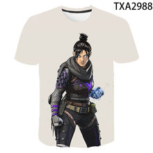 2020 new fashion men's and women's casual wild top Apex Legends 3D printed Harajuku T-shirt comfortable cool children's T-shirt(China)