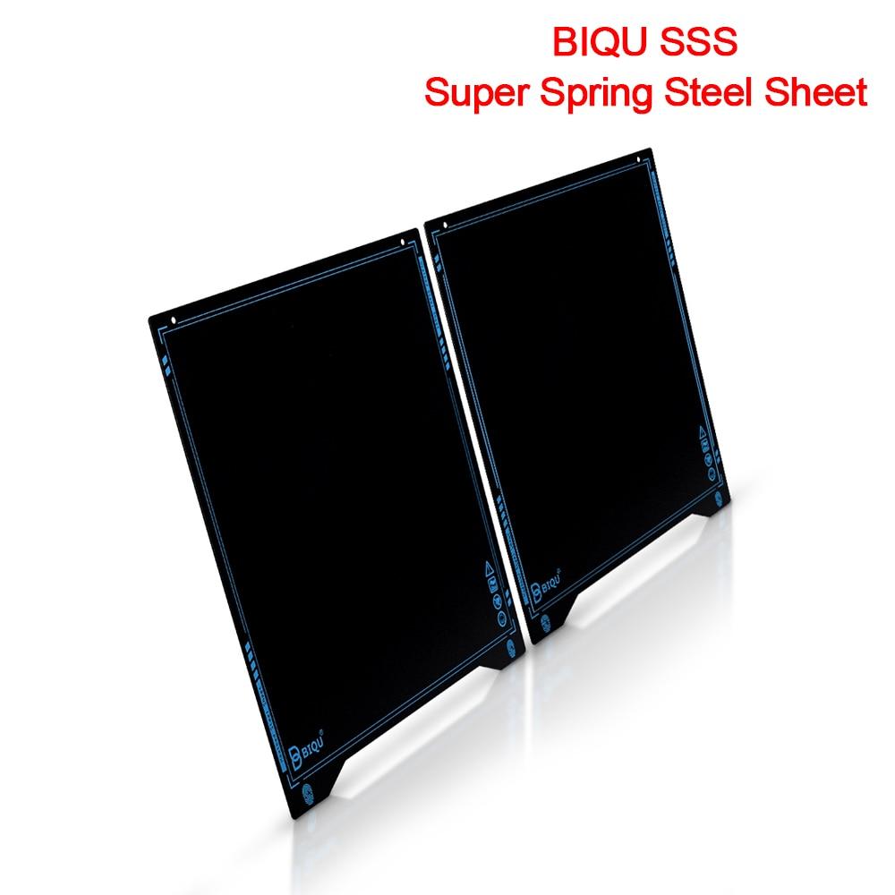 BIQU SSS Super Spring Steel Sheet Heated Bed Build Plate Platform 235x235MM Printer Parts For Filament Ender 3 3 Printer