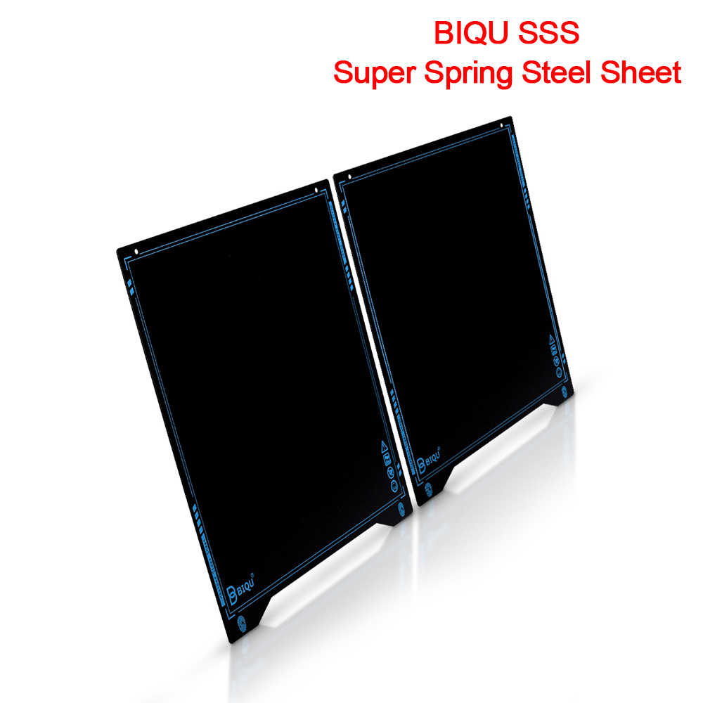 BIGTREETECH Upgrade SSS Spring Steel Sheet with Magnetic sticker 235X235MM Ultra-Flexible Removable Surface Heated Bed Platform 3D Printer Parts Printing Build Plate for Ender 3//Ender3 Pro//Ender 5//B1