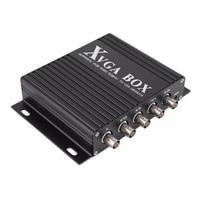 XVGA коробка RGB RGBS RGBHV MDA CGA EGA к VGA промышленный монитор видео конвертер с США штекер Адаптер питания черный