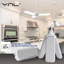 Ventilateur créatif de plafond, lampe de Garage, ampoule lampe à Led, 60W 45W 30W, ampoule lumière Led, Led pliable, Angle de lame réglable