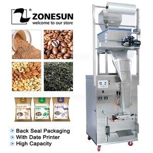 Image 1 - ZONESUN 10 999g Large Capacity Automatic Filling Sealing Machine Food Coffee Bean Grain Powder Bag Back Seal Packaging Machine