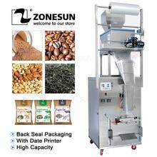 ZONESUN máquina de sellado y llenado automático de gran capacidad, 10 999g, alimentos, granos de café en polvo, bolsa de sellado trasero