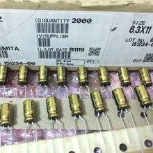 20 adet NICHICON FG 63V10UF 6.3x11MM ince altın 10UF 63V FineGold 10UF63V MUSE ses kondansatör 10 UF/63 V amplifikatör