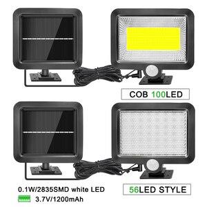 Image 2 - Lámpara de pared con Sensor de luz por movimiento PIR Solar LED, ahorro de energía, impermeable, iluminación para interiores y exteriores, 56/100