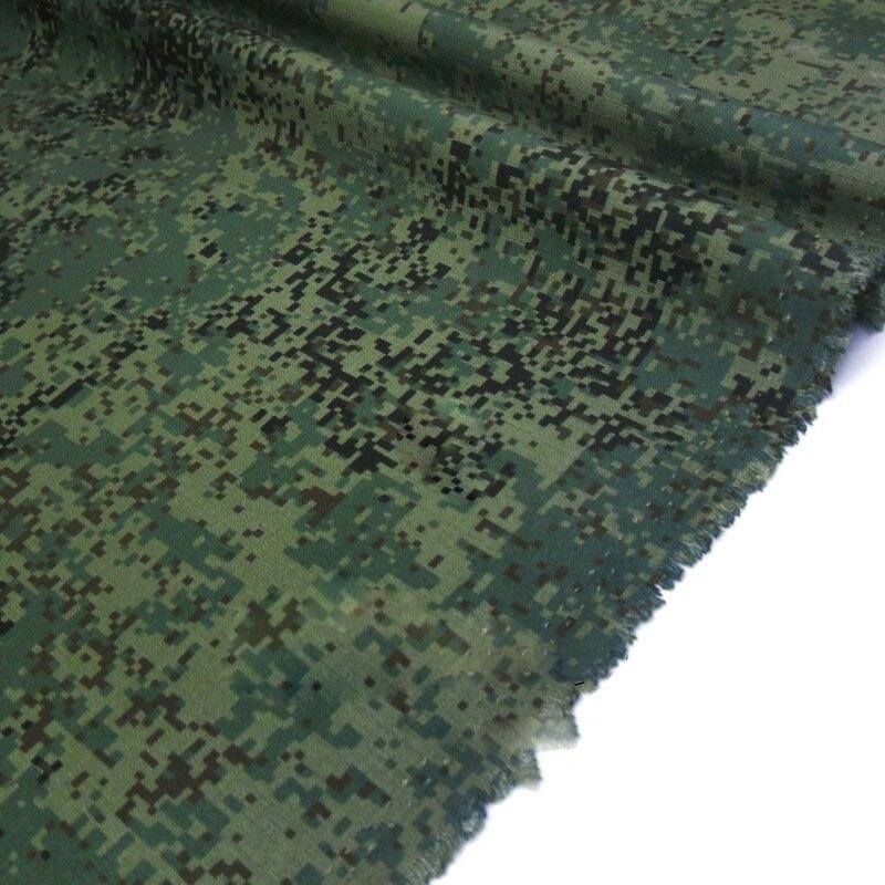 1.48M Width Green Digital EMR Camo Fabric TC Russian FLORA Camouflage Cloth Wear Resistant Military Uniform Suits Cap Material