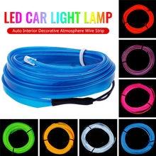 Novo 1m 12v conduziu a lâmpada de luz do carro flexível auto interior decorativo atmosfera fio tira fria luz led caber todos os carros dc 12v